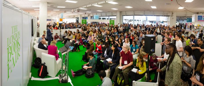 Photo of attendees at the London Book Fair Author HQ Book