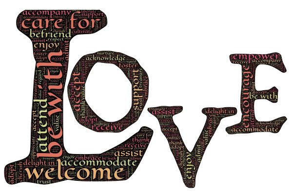 Love word vector graphic